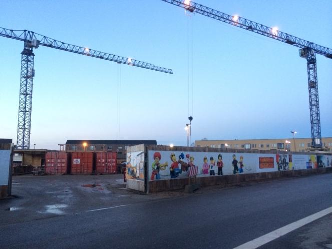 LEGO Idea House construction site. Please don't build a LEGO Clown statue!