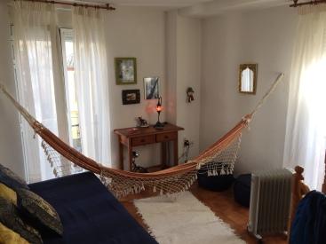 living room & hammock
