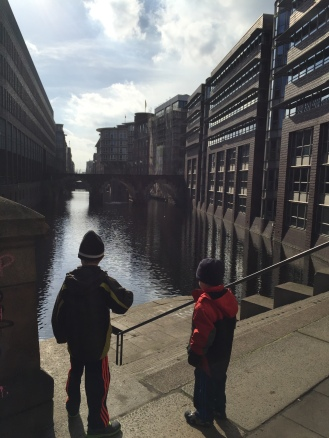 The boys wanted to know how deep the canals were