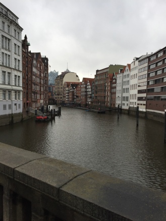 Hamburg is criss-crossed by canals