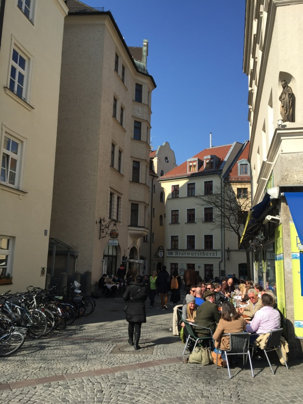 Lots of sidewalk cafes