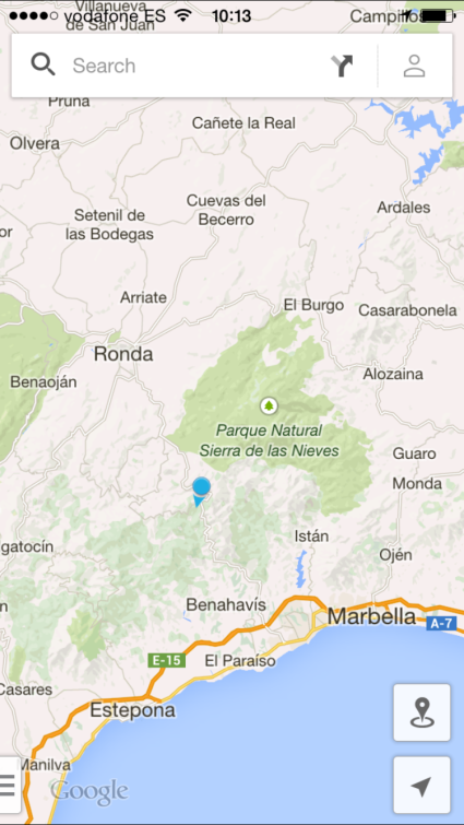 The route up to Ronda