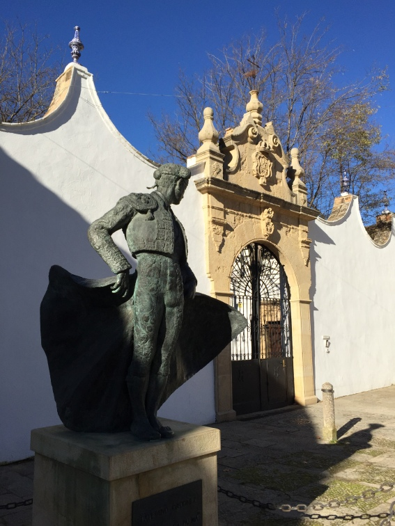 Statue of one of the famous Ordonez bullfighters