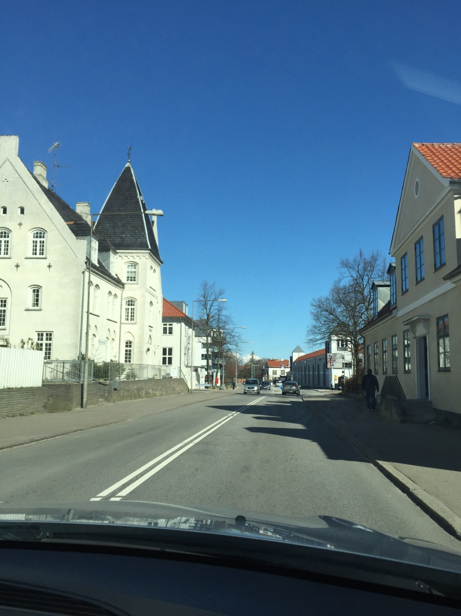 Driving through Helsingør