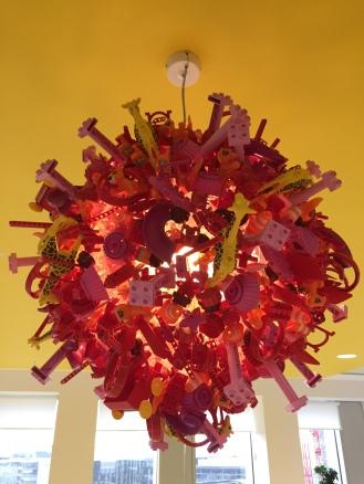 Close up of the amazing DUPLO lanterns.