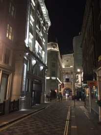 Wandering around the streets at night, looking for another pub